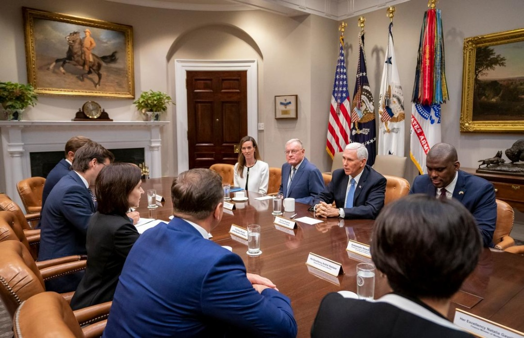 Майя Санду в США прийняв віце-президент Майкл Пенс