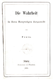 Обложка первого трактата Истина, 1867 г.