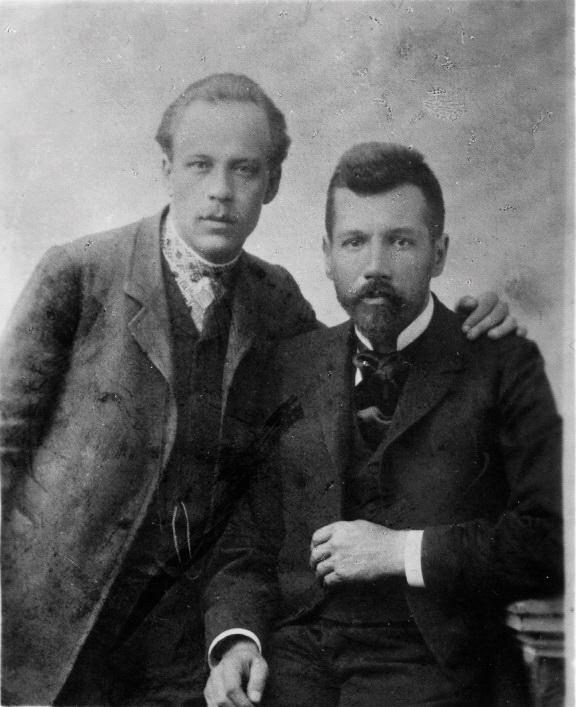 Микола Вороний та Михайло Коцюбинський, 1903 р.