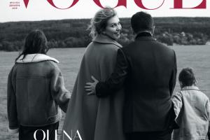 Olena Zelenska en couverture de Vogue
