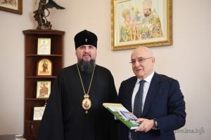 Епіфаній обговорив із послом Греції ситуацію на Донбасі