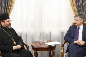Пристайко и глава УГКЦ обсудили мирные инициативы Президента