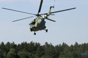 В Днипро на вертолете доставили больных военных