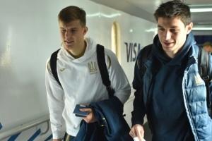 Сборная Украины по футболу прилетела в Белград на матч с сербами