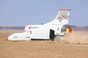 Суперкар Bloodhound розігнали в пустелі до 1010 кілометрів за годину