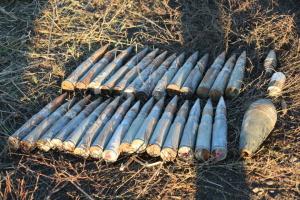 Возле Петровского и Богдановки обезвредили уже полторы сотни боеприпасов