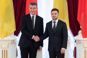 Зеленский проводит встречу с главой правительства Чехии