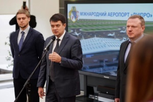 Razumkov expects reconstruction of Dnipro airport to be completed in 2022