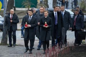 Zełenski wziął udział w wydarzeniach z okazji Dnia Godności i Wolności