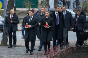 Zelensky attends events marking Day of Dignity and Freedom