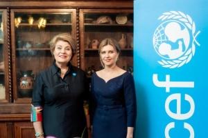Булінг та шкільне харчування: Зеленська зустрілася з головою представництва ЮНІСЕФ