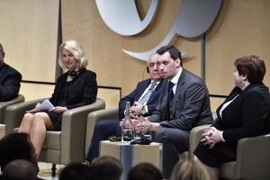 Honcharuk arrive au sommet de la BERD à Londres