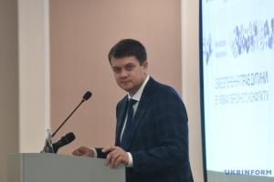 Dmytro Razoumkov ne voit aucune raison de dissoudre la Verkhovna Rada de l'Ukraine