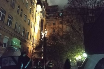 Incendie dans un immeuble résidentiel dans le centre de Kyiv: des sauveteurs ont évacué 40 personnes