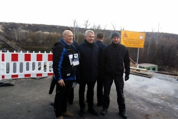 Foreign Minister of Finland visits disengagement area in Stanytsia Luhanska