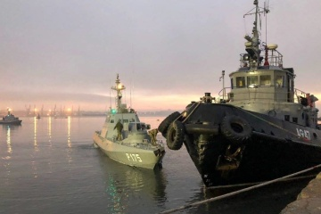 W Rosji powiedzieli, że zwrócą aresztowane statki na Ukrainę 18 listopada