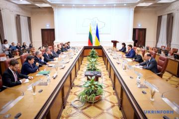 Hontscharuk erörtert mit Pranckietis Zusammenarbeit zwischen der Ukraine und Litauen