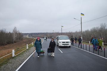 Brücke in Stanyzja Luhanska eröffnet
