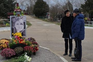 In Cherson gedenkt deutsche Botschafterin Kateryna Handsjuk