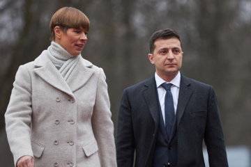 Zelensky, Kaljulaid discuss situation in Donbas, integration into EU and NATO