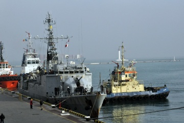 Französisches Kriegsschiff Commandant Birot besucht Odesa