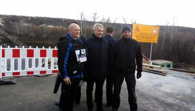 Le ministre finlandais des Affaires étrangères s'est rendu à Stanytsya Louhanska