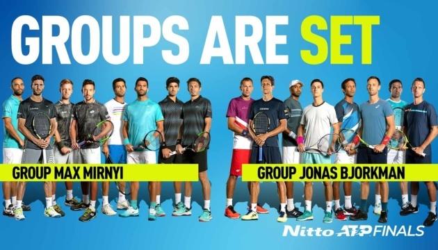 Відбулося жеребкування Підсумкового тенісного турніру ATP