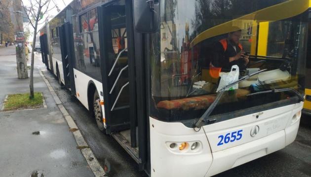 У столиці загорівся тролейбус із пасажирами