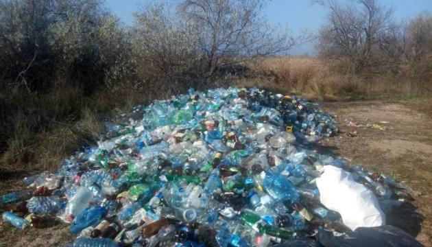 Из Кинбурнской косы вывезли более четырех тонн стекла и пластика