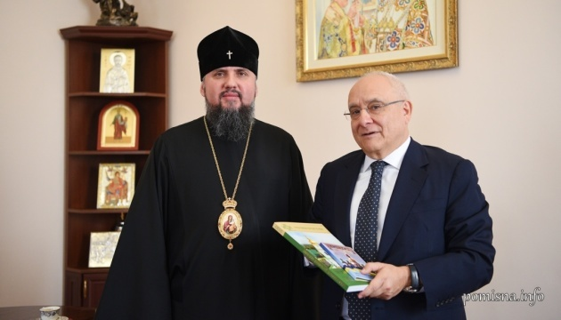 Epiphanius, Greek ambassador discuss situation in Donbas