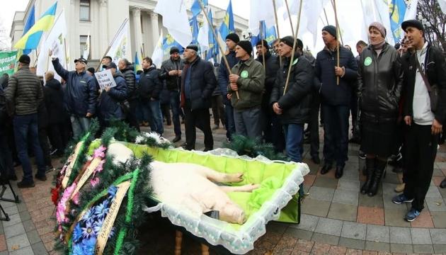 Протестувальники під Радою