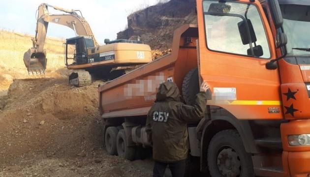На Буковине и Черкасчине СБУ заблокировала нелегальную добычу полезных ископаемых