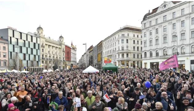 Чехия отпраздновала юбилей Бархатной революции