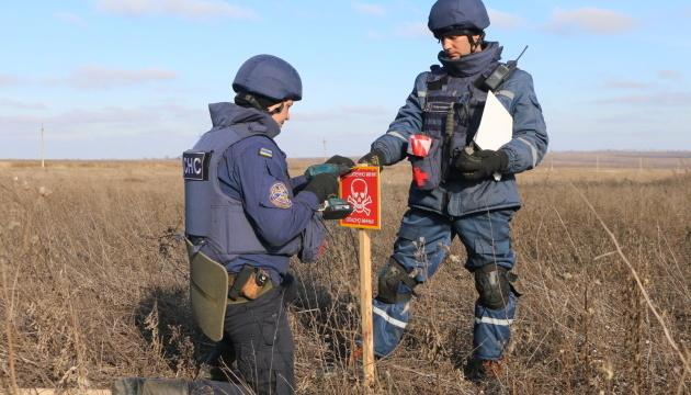 ペトリウシケ付近の地雷除去12ヘクタール完了