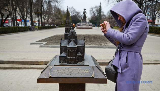 «Бронзовий Тернопіль» відтворює в мініатюрі пам'ятки міста, що не збереглися