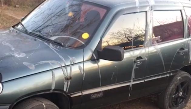 На Харьковщине облили кислотой машину офицера-пограничника