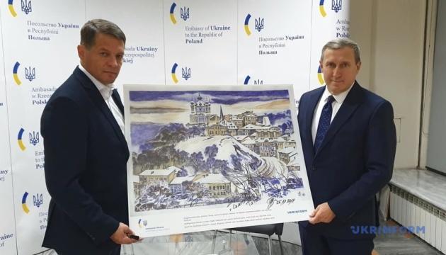 """Cущенко передав одну з репродукцій картин на благодійну акцію """"Свята без тата"""""""