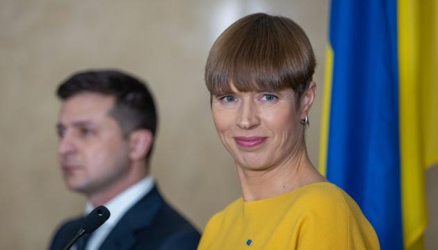 Estonian President Kaljulaid reiterates full support for Ukraine