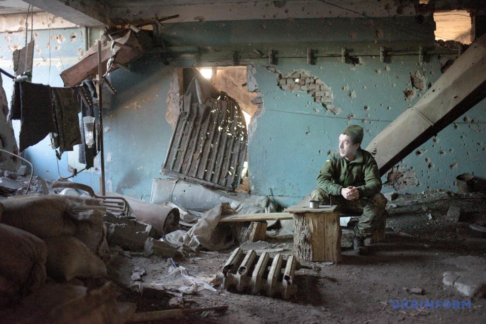 Передові позиції українських військовослужбовців на околицях Донецька / Фото: Маркіян Лисейко, Укрінформ