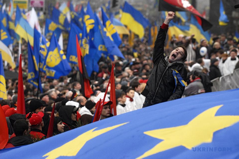 Україна відзначає День Гідності та Свободи. Фото: Петрасюк Олег/Укрінформ