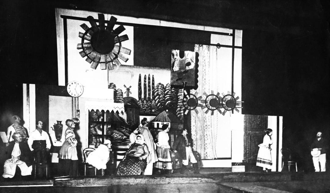 сцена з вистави «Народний Малахій», театр «Березіль», 1928 р.