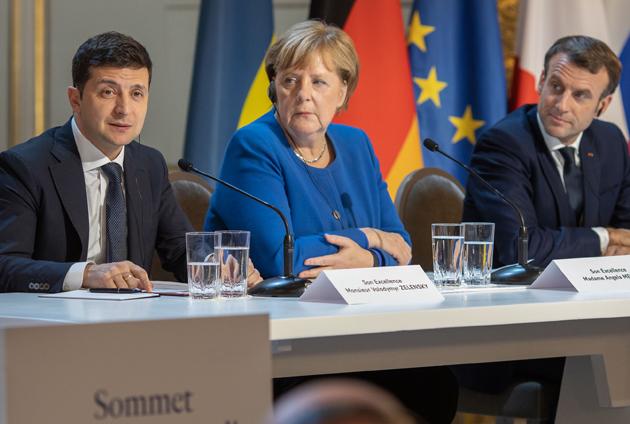 Володимир Зеленський, Ангела Меркель, Емануель Макрон / Фото: АА