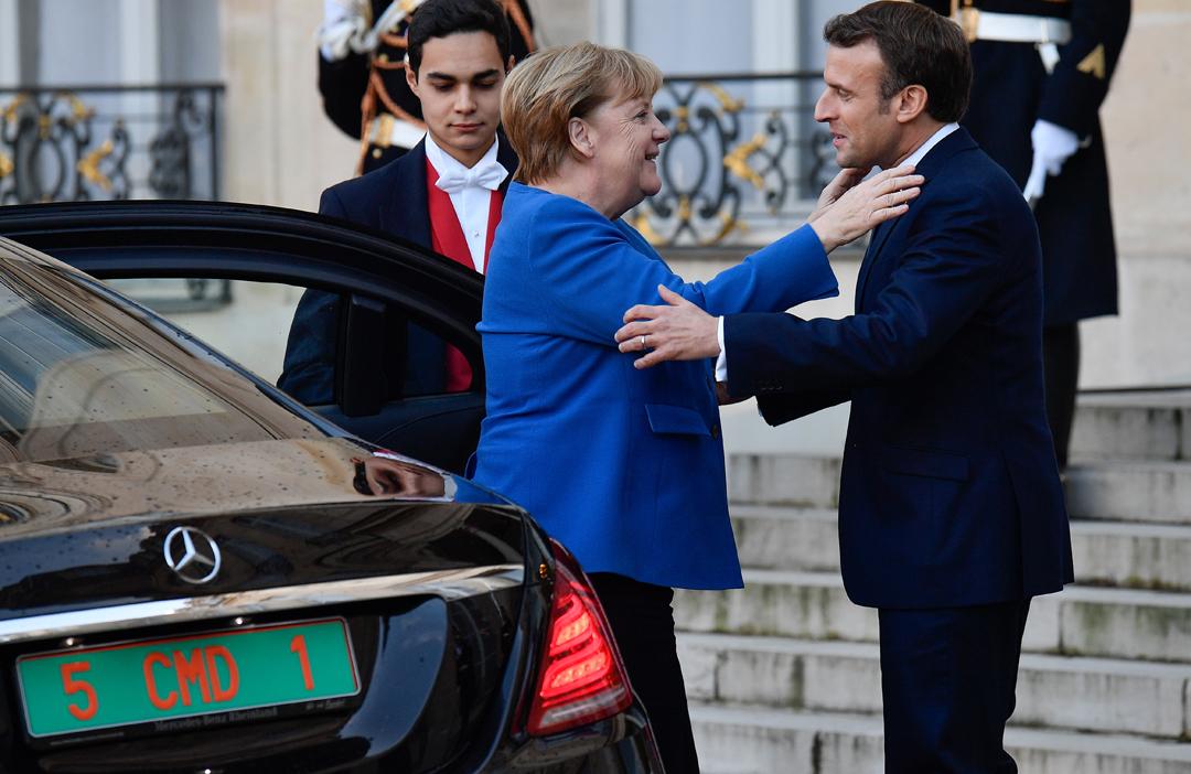 Ангела Меркель, Емануель Макрон / Фото: АА