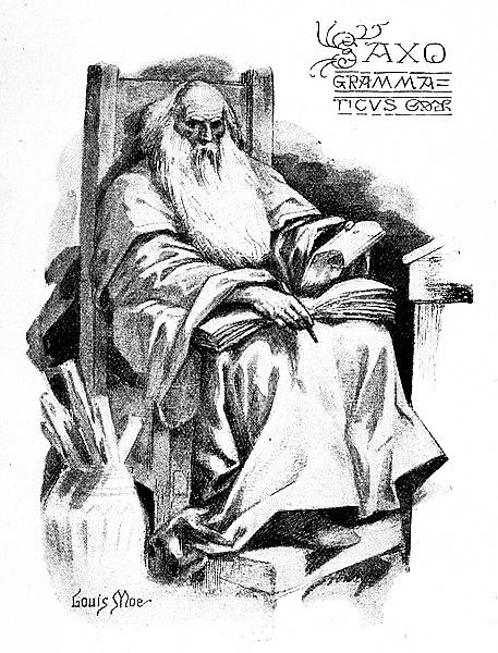данський історик Саксон Ґраматик, гравюра