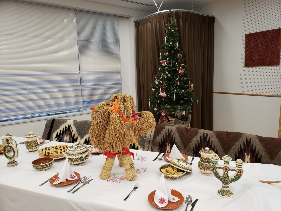 ウクライナのクリスマスの飾りつけ
