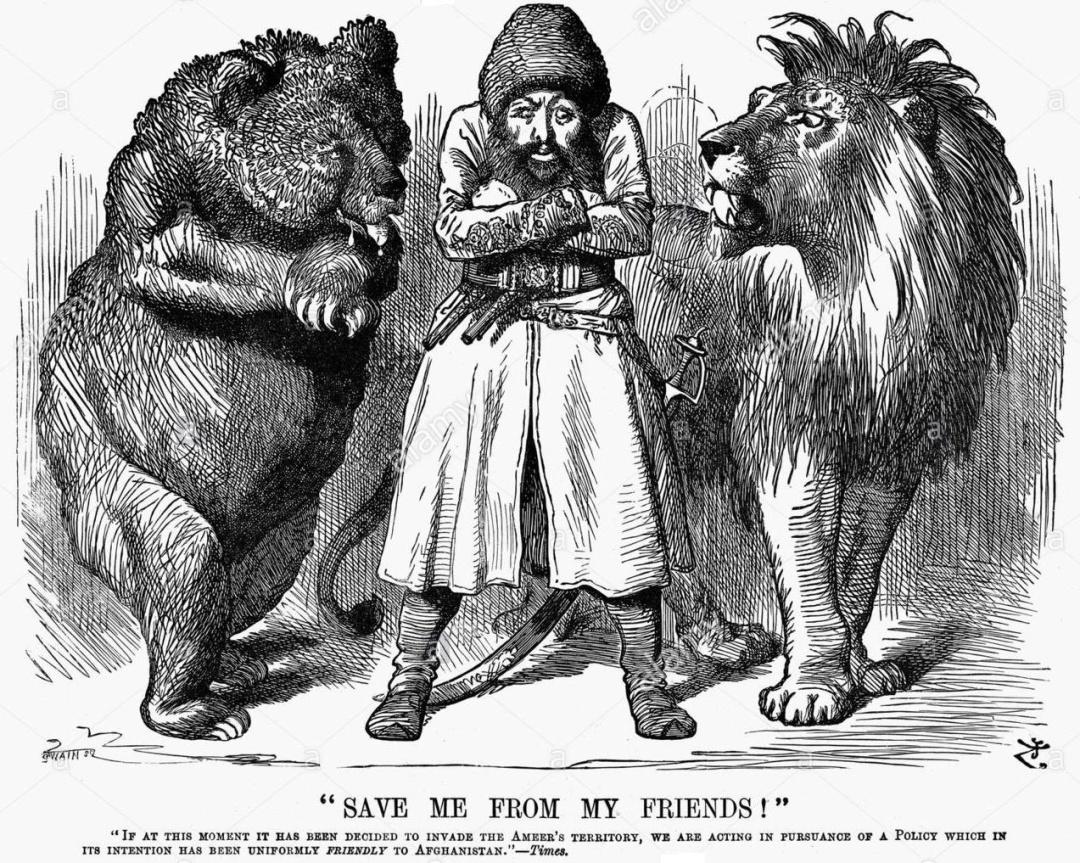 Карикатура часів Другої афганської війни