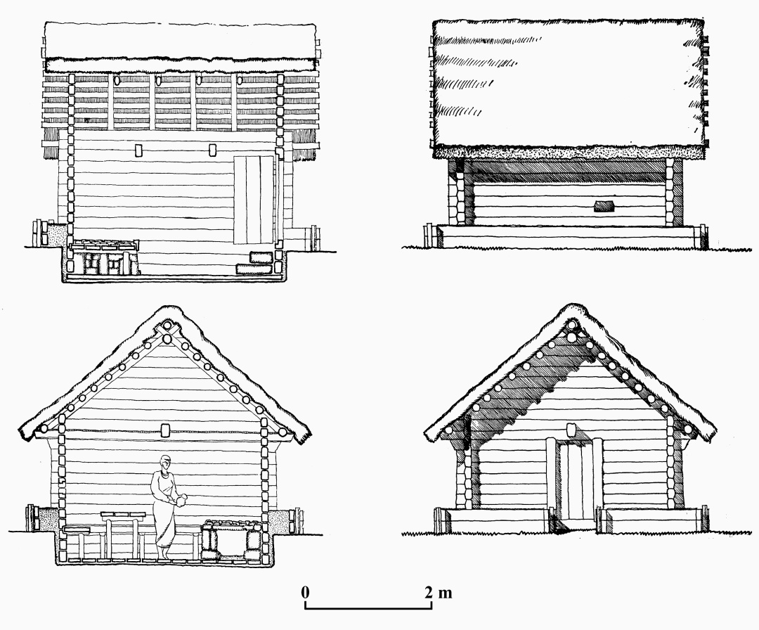 Графічна реконструкція слов'янського житла VІ -VІІ ст