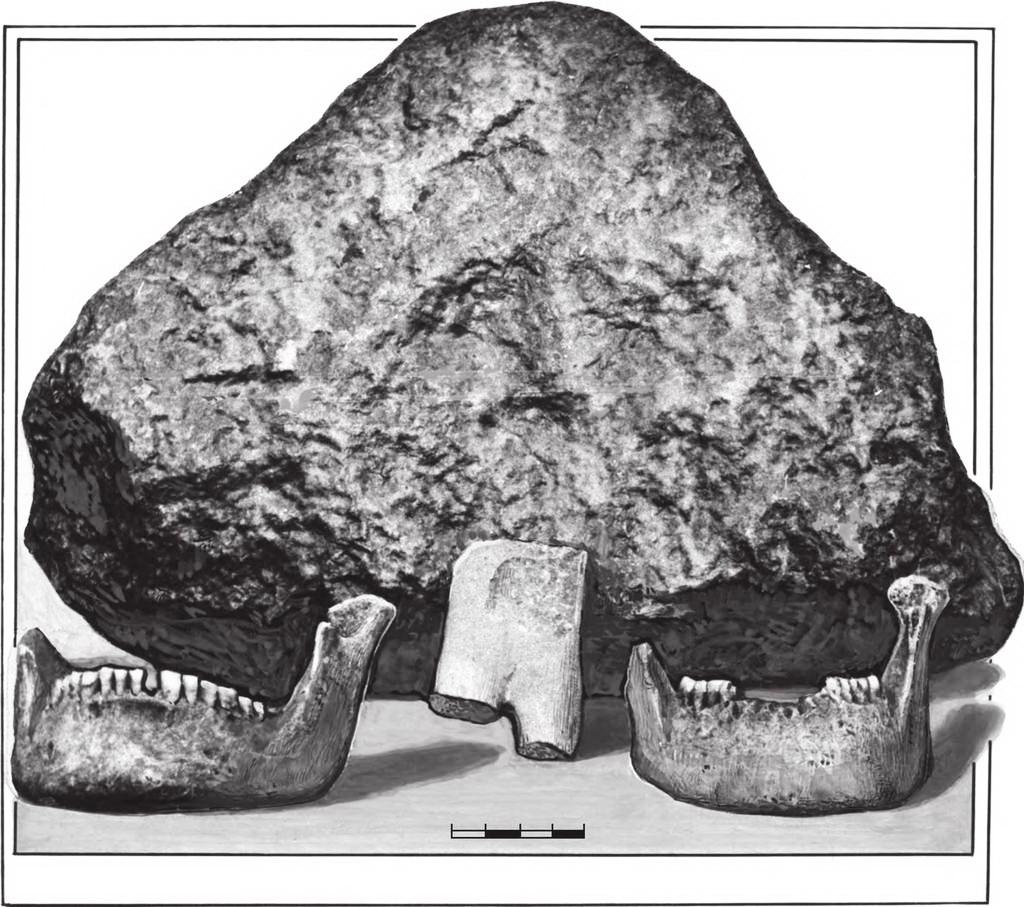 антропоморфний трикутник, схожий на довгобородого старганя, село Загаї Горохівського району Волинської області, камінь-пісковик