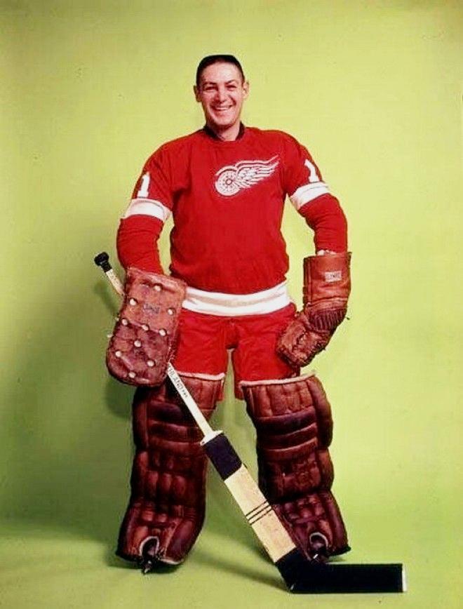 Террі Савчук - голкіпер Детройт Ред Уїнгз, 1964 р.
