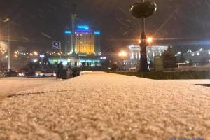 L'hiver est arrivé: Kyiv est sous la neige